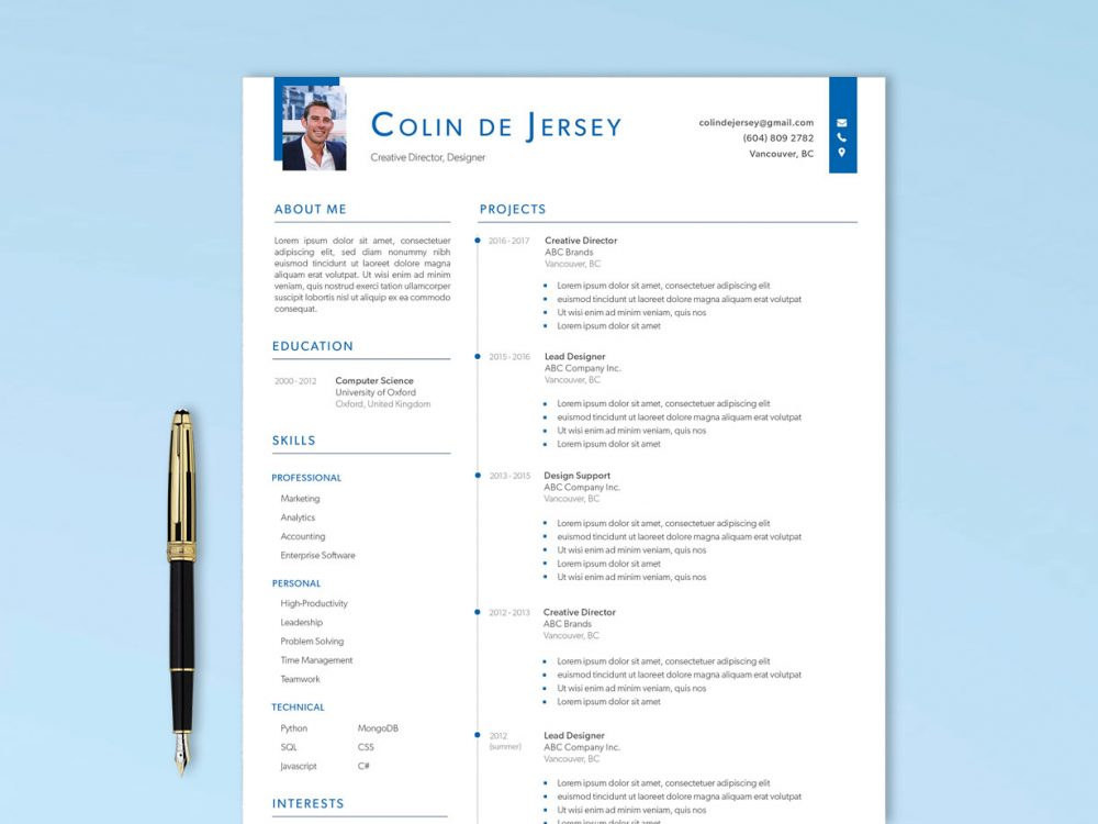 Free Executive Resume Template AI Format