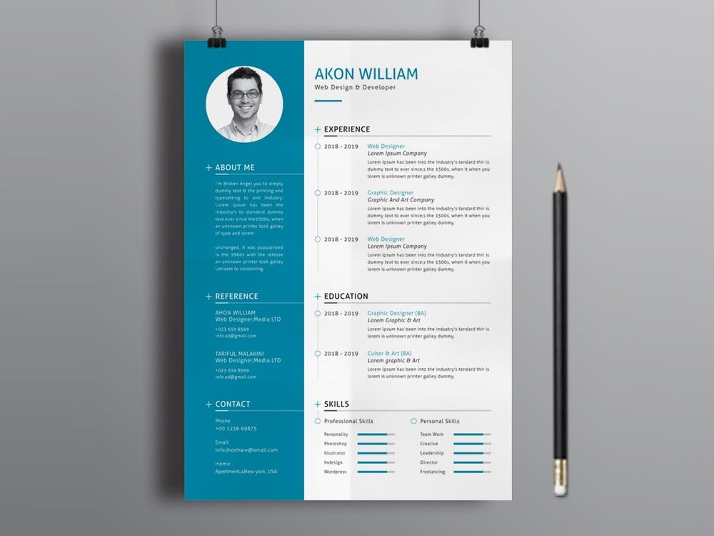 Free Illustrator Modern Resume Template