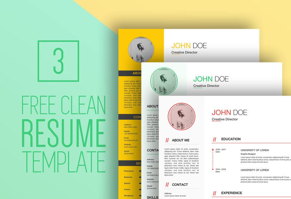 Clean Professional Free Resume Template