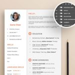 Free PSD Creative Resume Template