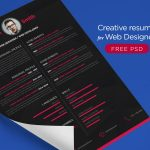 Free Creative Resume Templates For Web designer