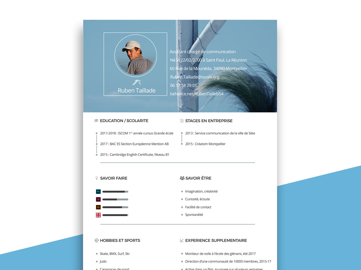 Free Download Photoshop Resume Template
