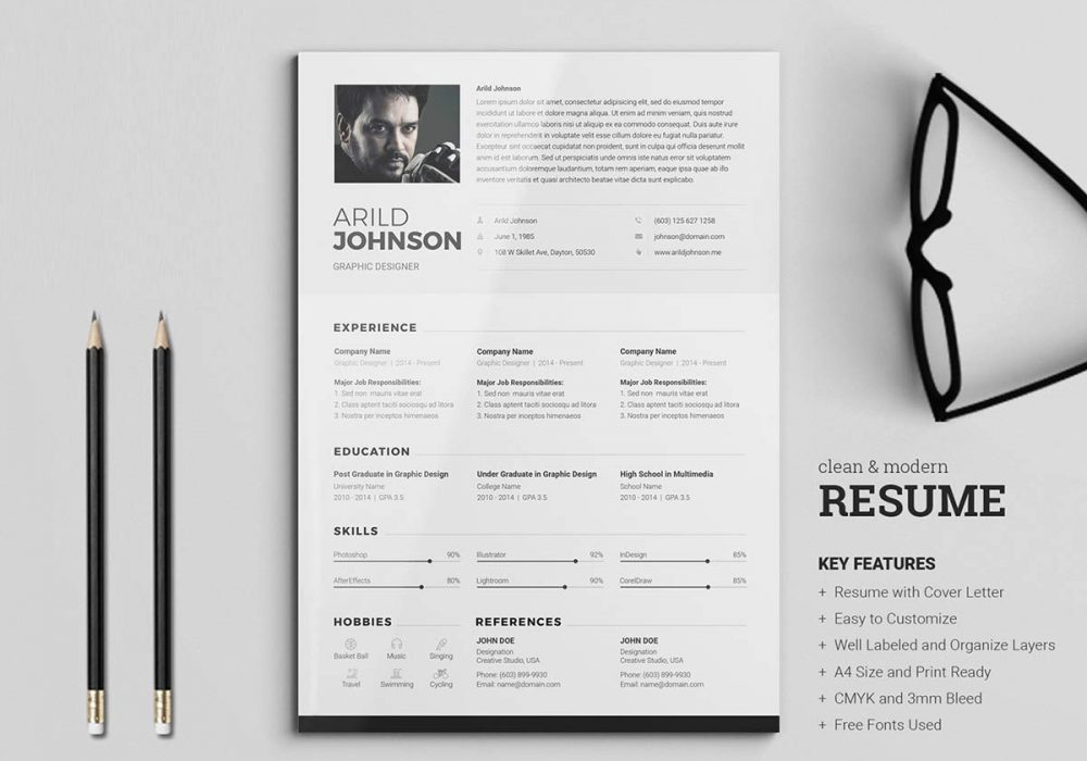 Clean & Modern Professional Resume Template