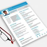 Free Resume Template PSD & EPS Format