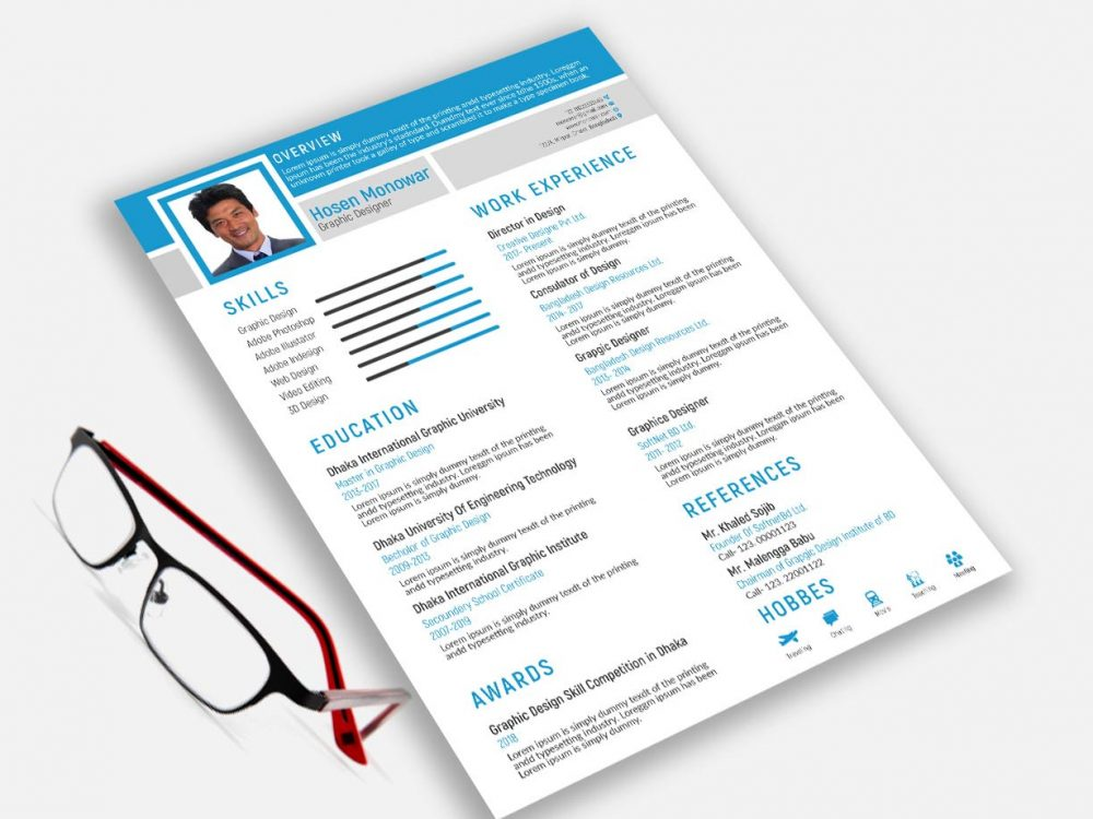 Free Illustrator Resume Template