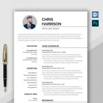 Professional Resume Template Word & PSD Format