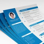 Professional PSD Free Resume Template