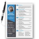 PSD & AI Format Free Resume Template
