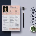 Free Resume Template With Cover Letter PSD