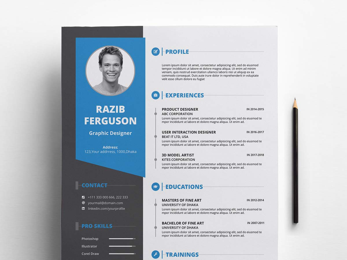free resume template download with cover letter  2020