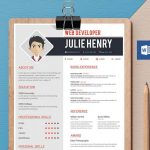 Simple Resume Template in Word Format