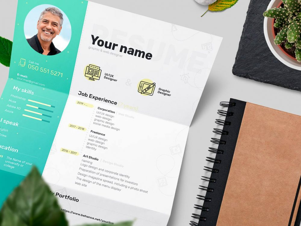 Photoshop Resume Template Free