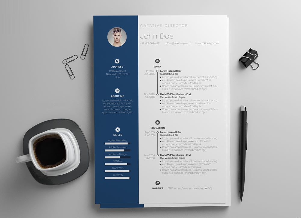 Modern Resume Template Word Format