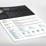Modern Free Resume Template PSD