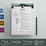 Free Simple Resume CV Template in PSD and Word Format