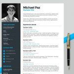 Clean and Modern Illustrator Resume Template