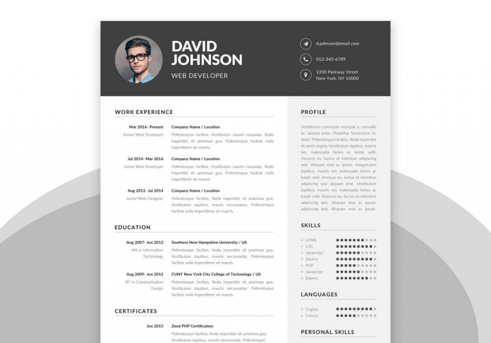 Simple Resume Template In Word Psd Format 2020 Maxresumes