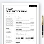 Two Column Simple Resume Template in Multi File Format