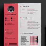 One Page Free Resume Template PSD Format