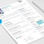 One Page Resume Template Free PSD