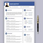 Stylish Resume Template Free Download
