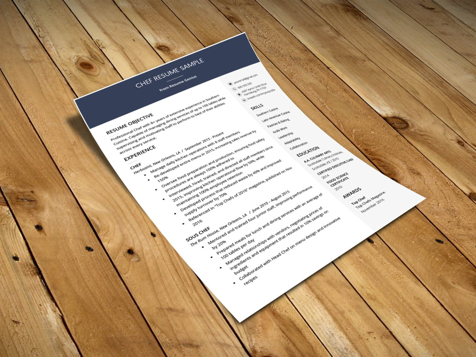 Free Clean Resume Template in Docx Format