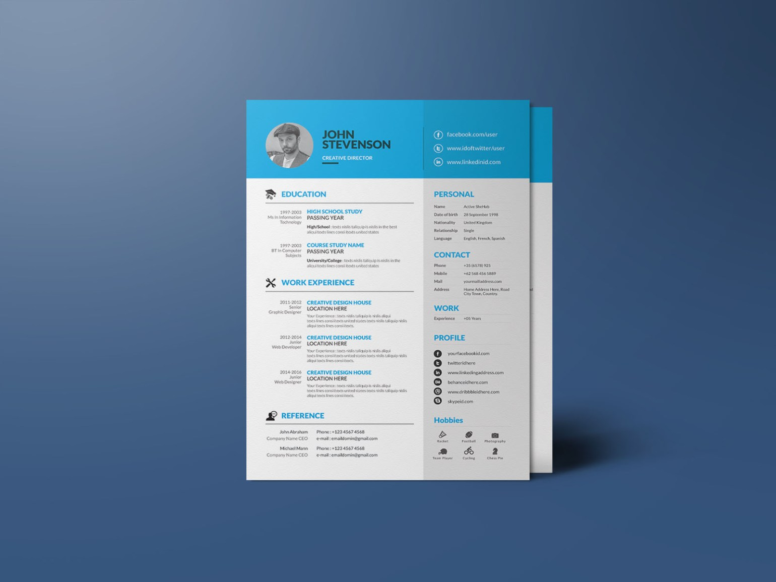 Free Corporate Illustrator Resume Template
