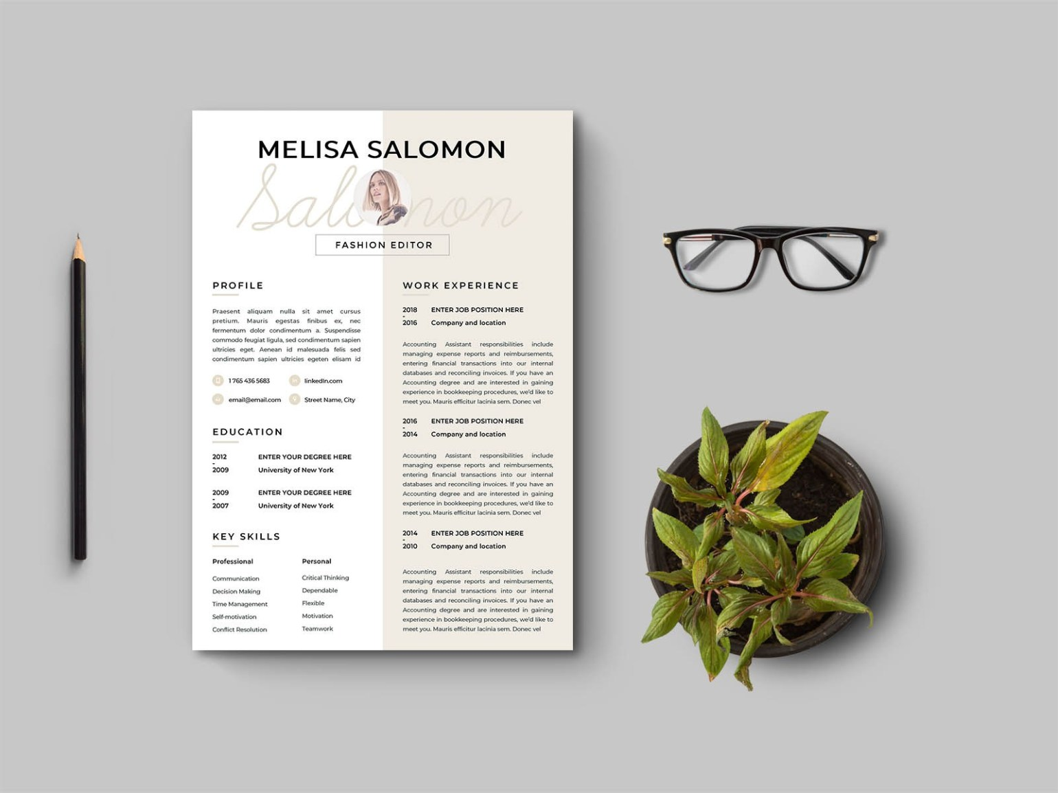 Free Clean and Modern Resume Template