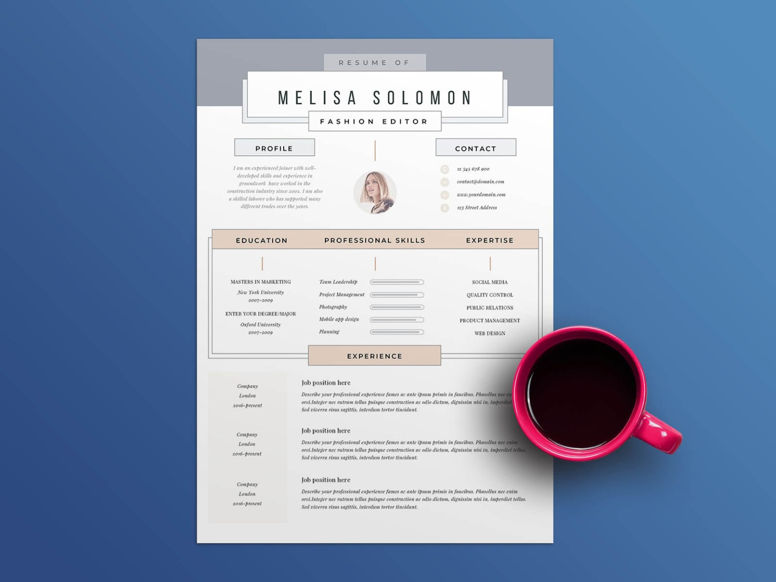 Free Clean Resume Template Download
