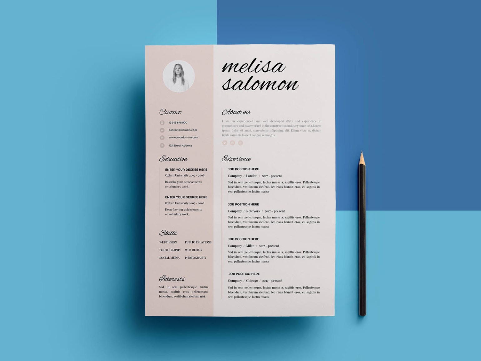 Free Resume Template in Doc Format