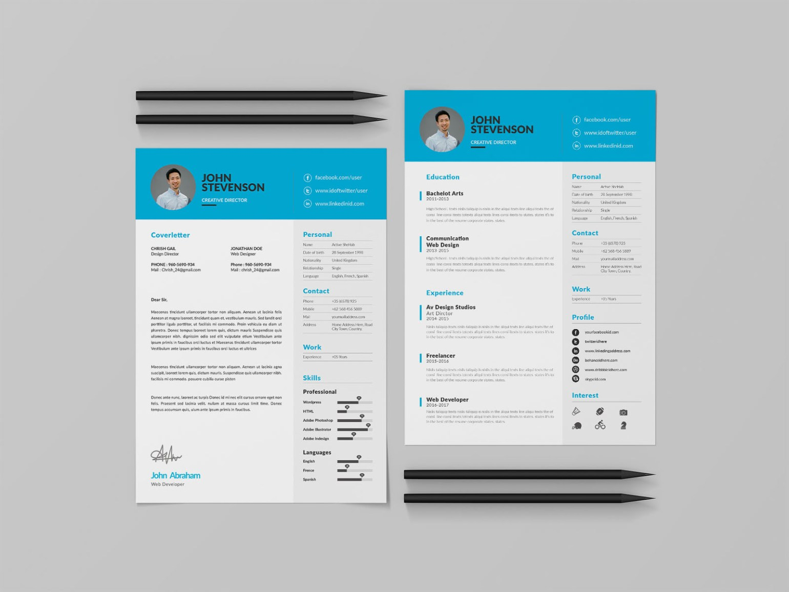 Free Three Pages CV Template Download