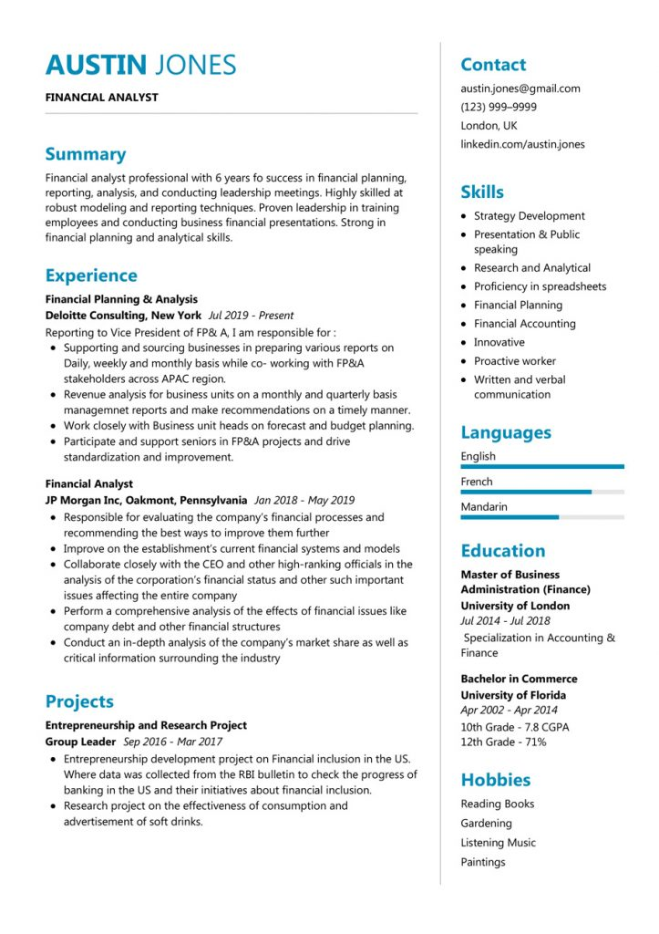 financial-analyst-resume