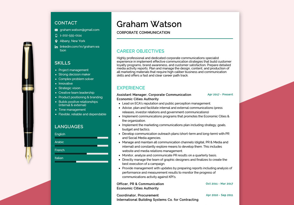corporate-communication-resume-sample