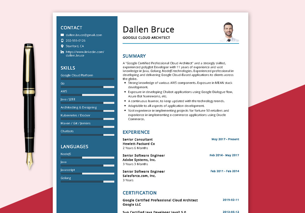 google-cloud-architect-resume