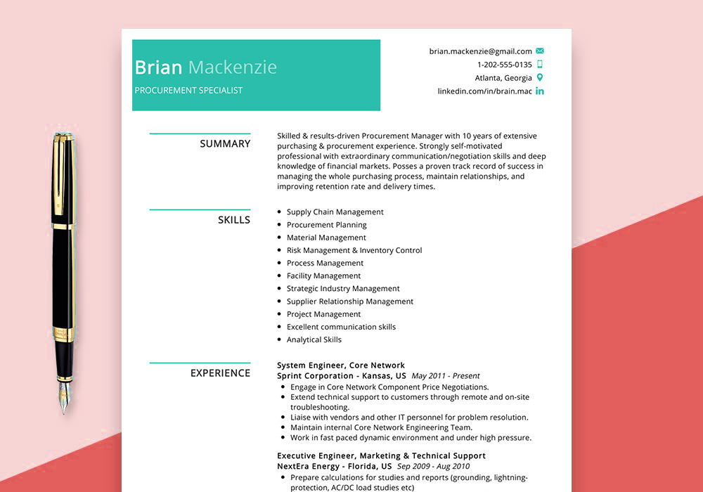 procurement-specialist-resume