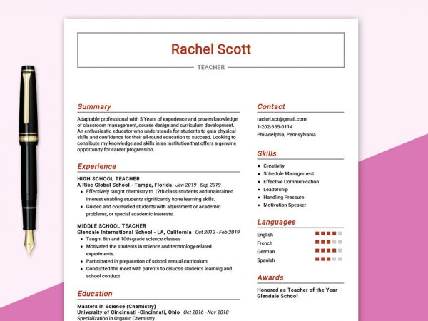 teacher-resume-sample